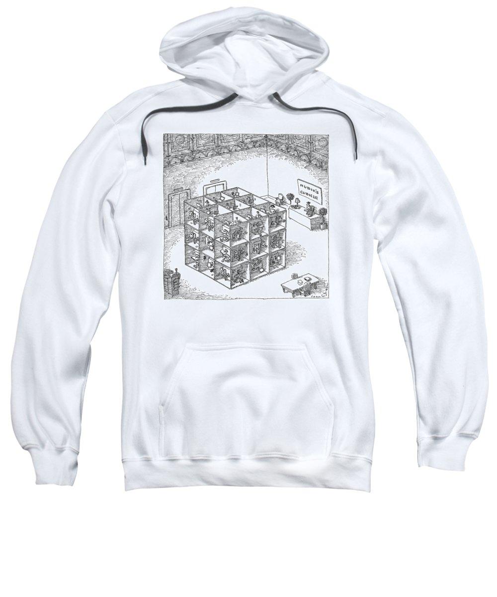Rubiks Drawn Cube Mens Sweatshirt