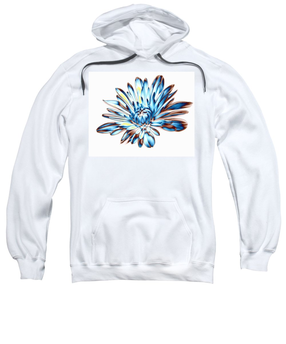 Blue Sweatshirt featuring the photograph A Splash Of Petaled Blue by Bill Tiepelman