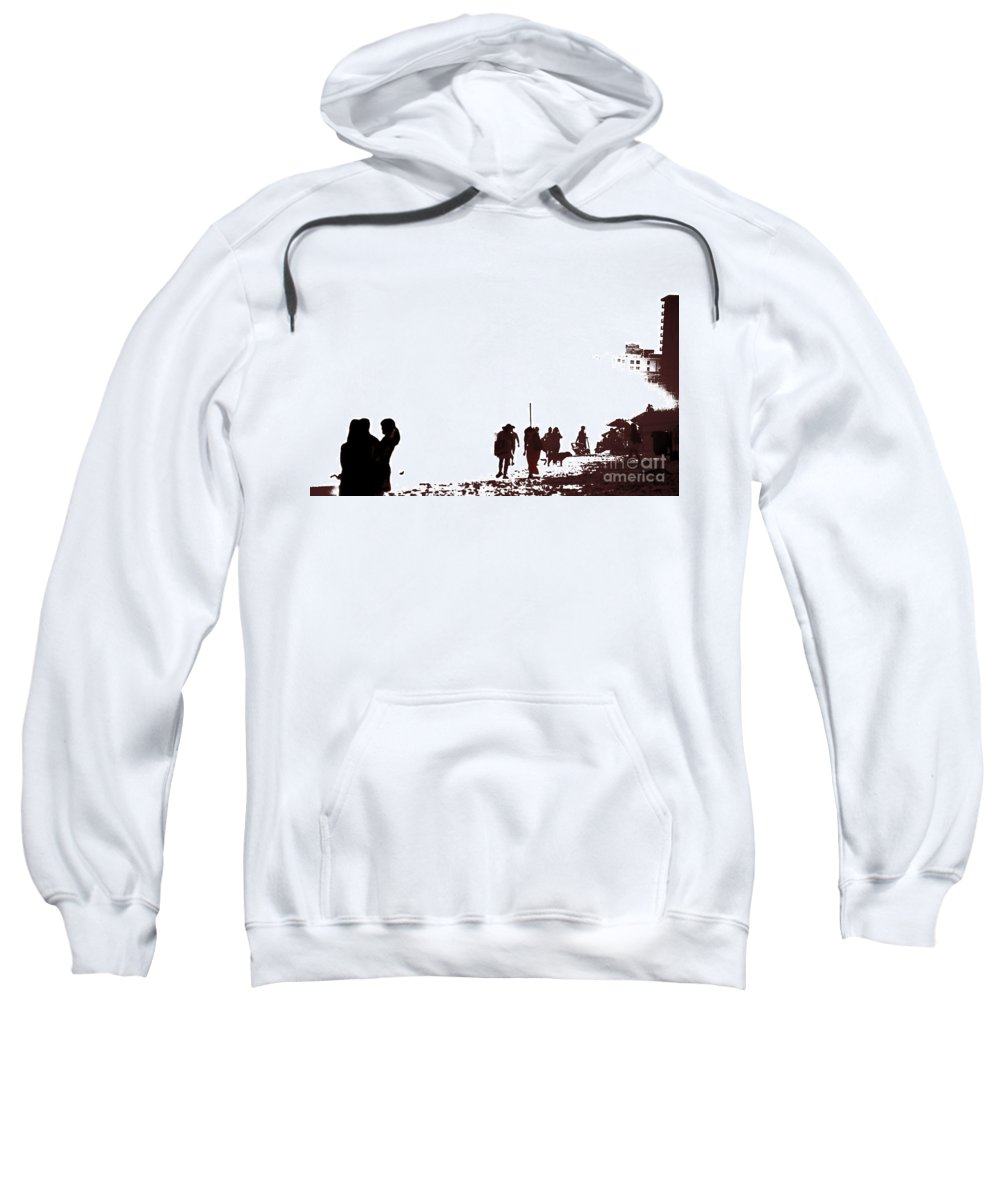 Beach Sweatshirt featuring the photograph A Walk On The Beach by Gary Smith