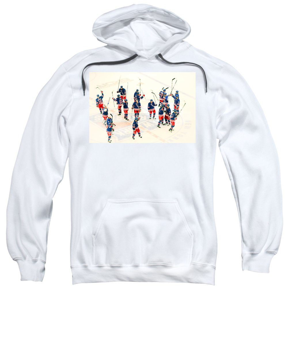 Hockey Sweatshirt featuring the photograph A Winning Salute by Karol Livote