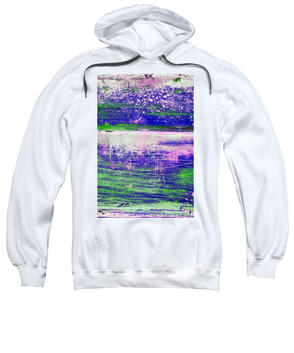 Abstract Sweatshirt featuring the mixed media Aa3 1 Paint Textures Abstract Collage by Brian Raggatt