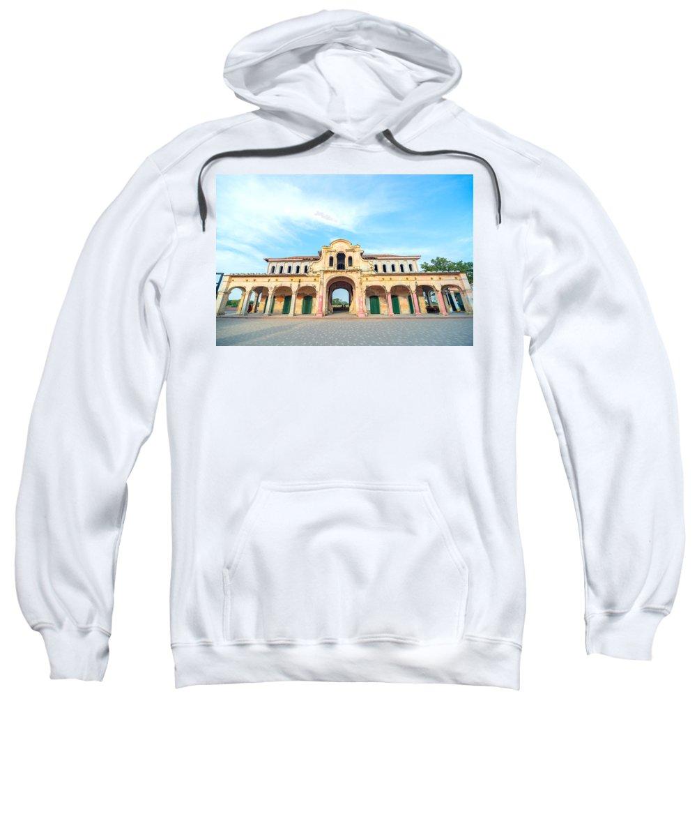 America Sweatshirt featuring the photograph Abandoned Market by Jess Kraft