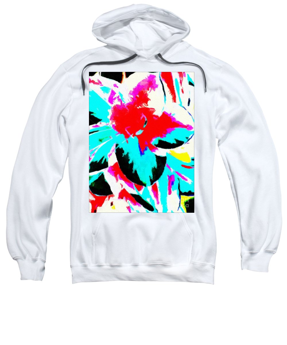 Abstract 107 Sweatshirt featuring the digital art Abstract 107 by Barbara Griffin