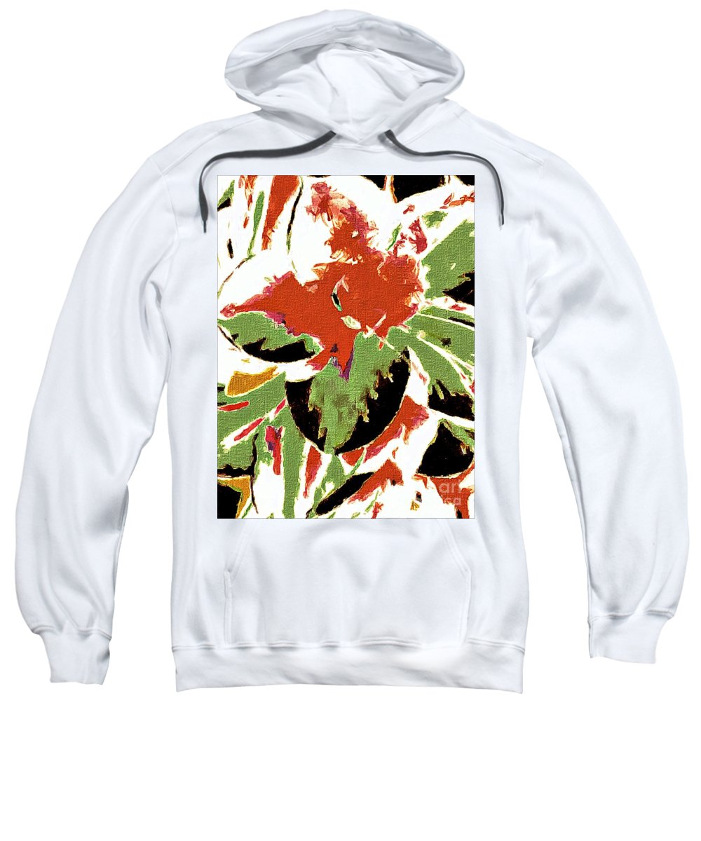Abstract 109 Sweatshirt featuring the digital art Abstract 109 by Barbara Griffin