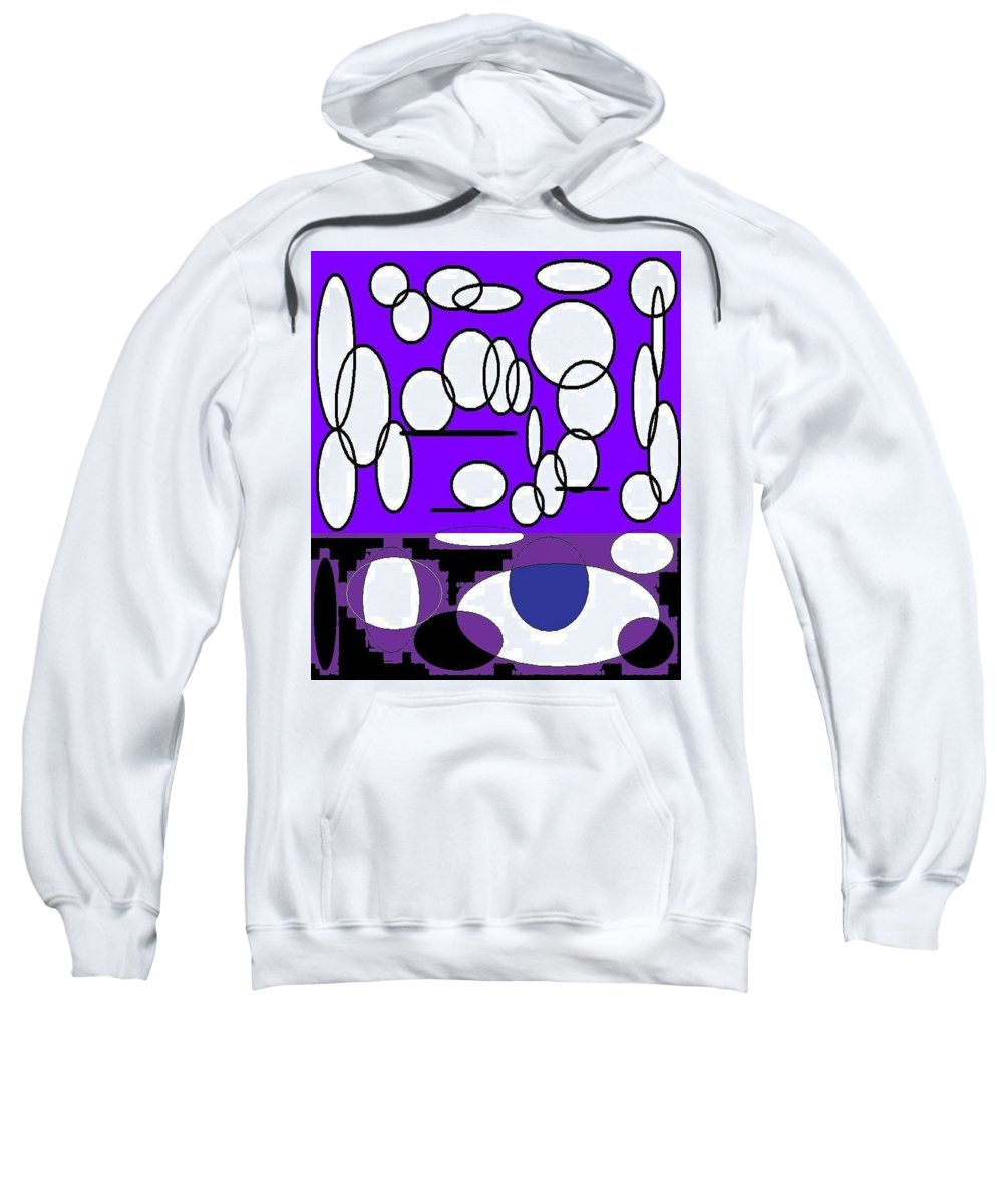 Dot Sweatshirt featuring the painting Abstract #24 by Earnestine Clay