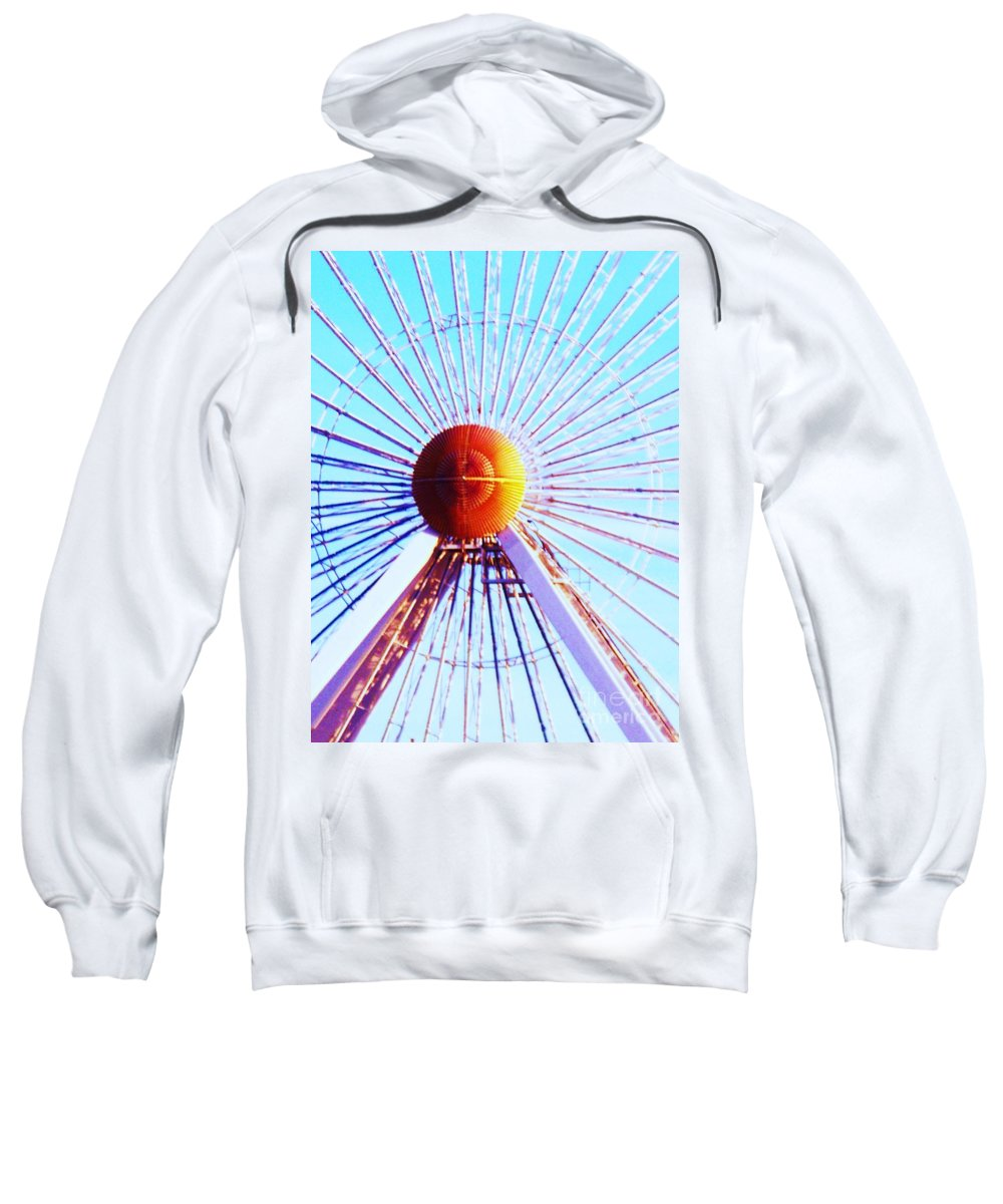 Abstract Sweatshirt featuring the painting Abstract Ferris Wheel by Eric Schiabor