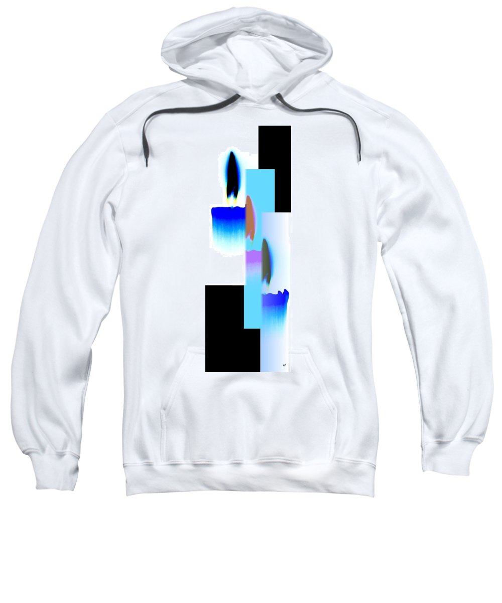 Abstract Fusion 220 Sweatshirt featuring the digital art Abstract Fusion 220 by Will Borden