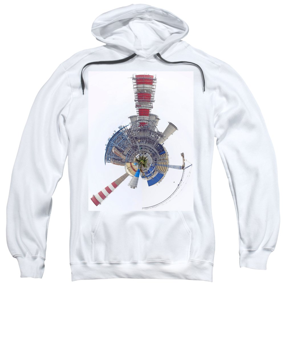 Power Sweatshirt featuring the photograph Abstract Construction Power Plant by Paul Fell