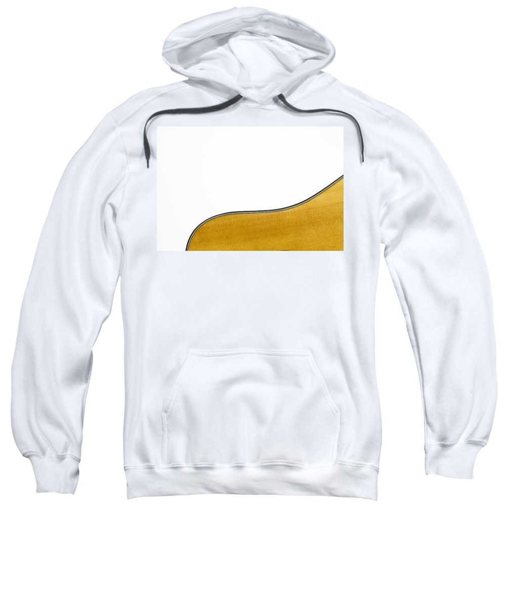Guitar Sweatshirt featuring the photograph Acoustic Curve by Bob Orsillo