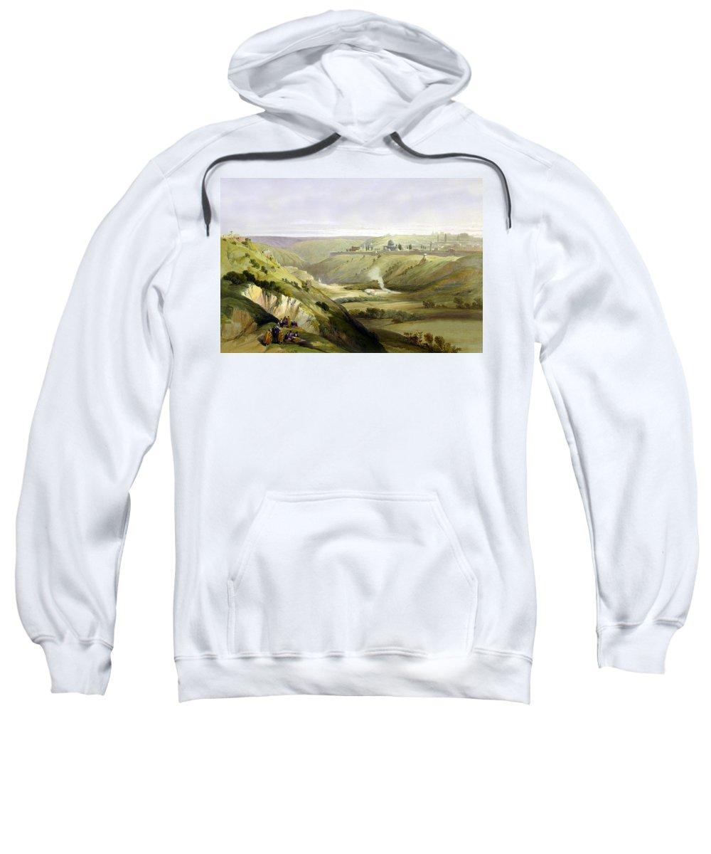 Palestine Sweatshirt featuring the photograph Across Jerusalem Valley by Munir Alawi