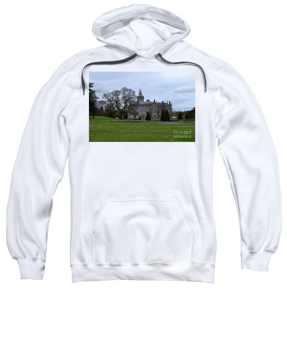 Irieland Sweatshirt featuring the photograph Adare Manor by DejaVu Designs