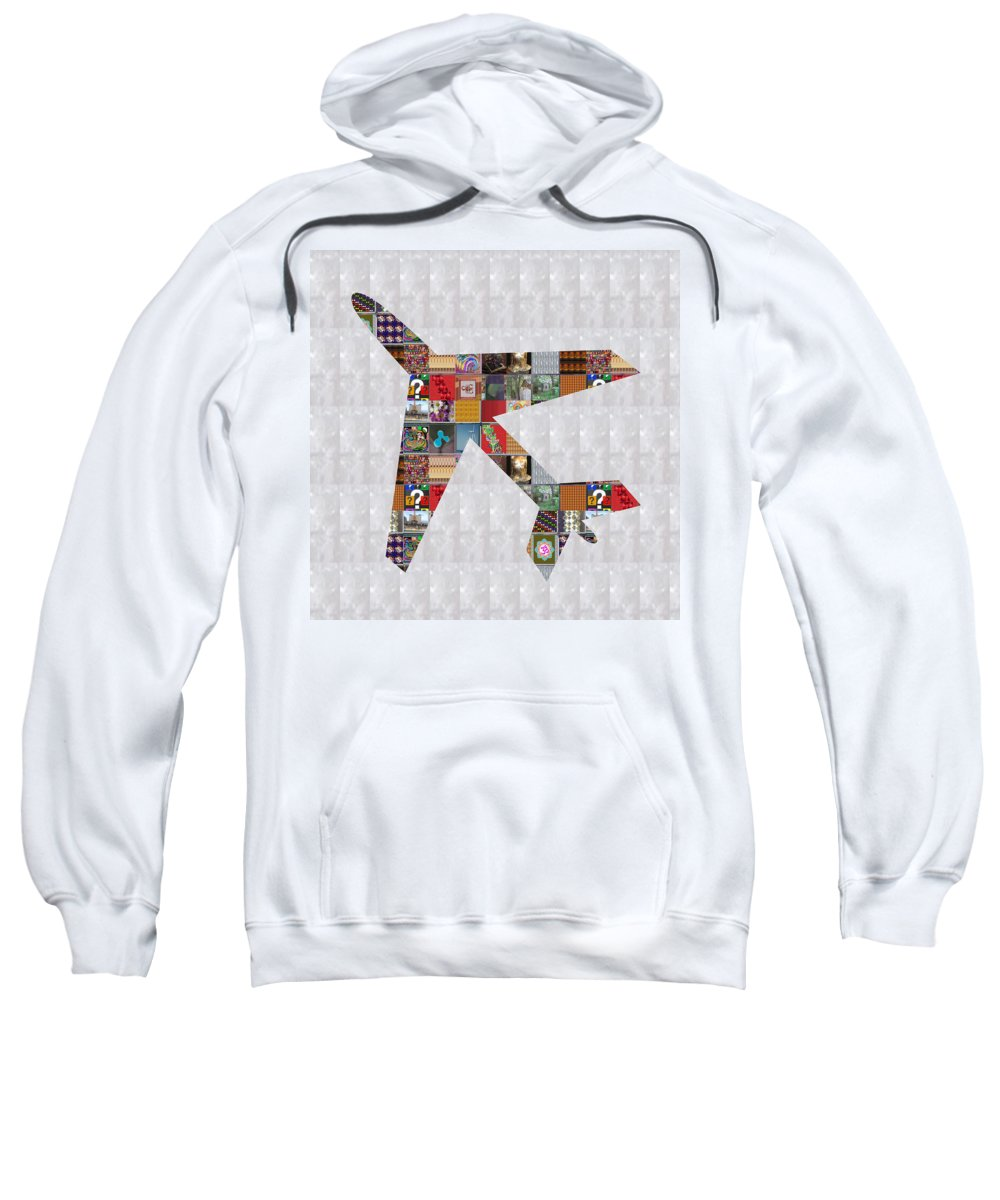 Aeroplane Aviationbirthday Sweatshirt featuring the painting Aeroplane Fly Showcasing Navinjoshi Gallery Art Icons Buy Faa Products Or Download For Self Printing by Navin Joshi