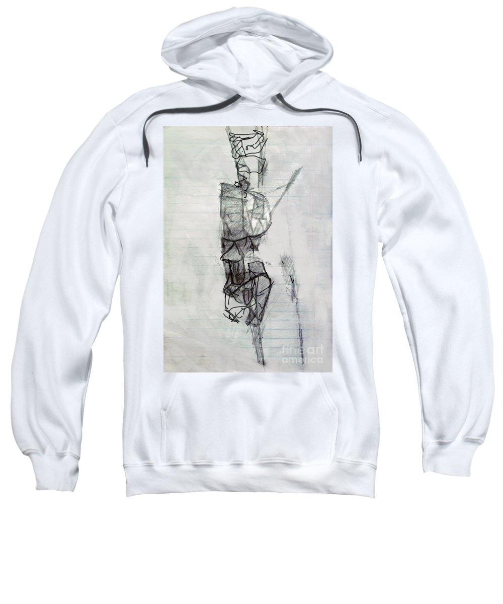 Torah Sweatshirt featuring the digital art Self-renewal 21a by David Baruch Wolk