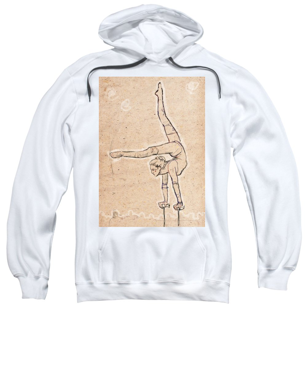 Circus Sweatshirt featuring the drawing Aimee by H James Hoff
