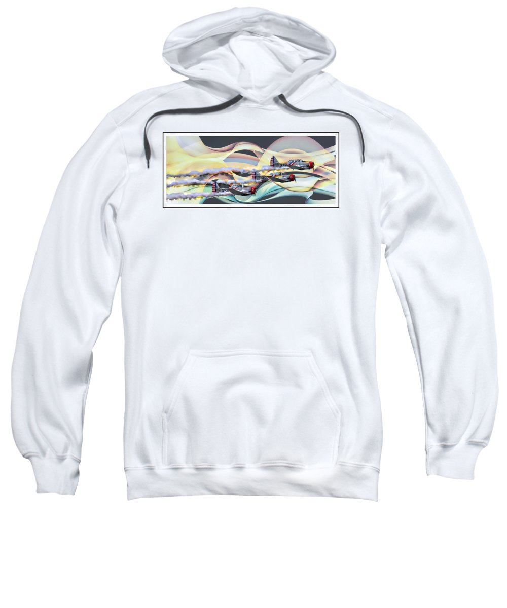 Air Show Sweatshirt featuring the photograph Airwaves by Alice Gipson