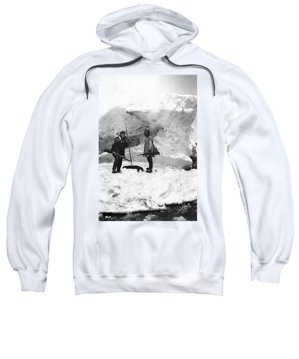 20th Century Sweatshirt featuring the photograph Alaska Hunters by Granger