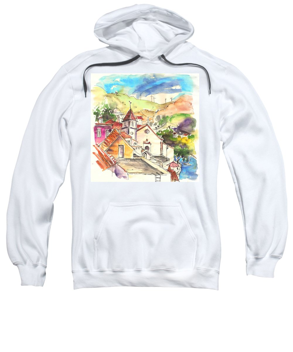 Portugal Sweatshirt featuring the painting Alcoutim In Portugal 07 by Miki De Goodaboom