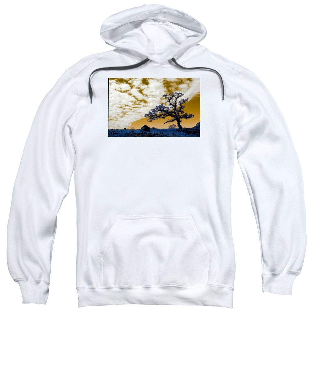 Lab Sweatshirt featuring the photograph Alien Landscape 1 by Robert Woodward