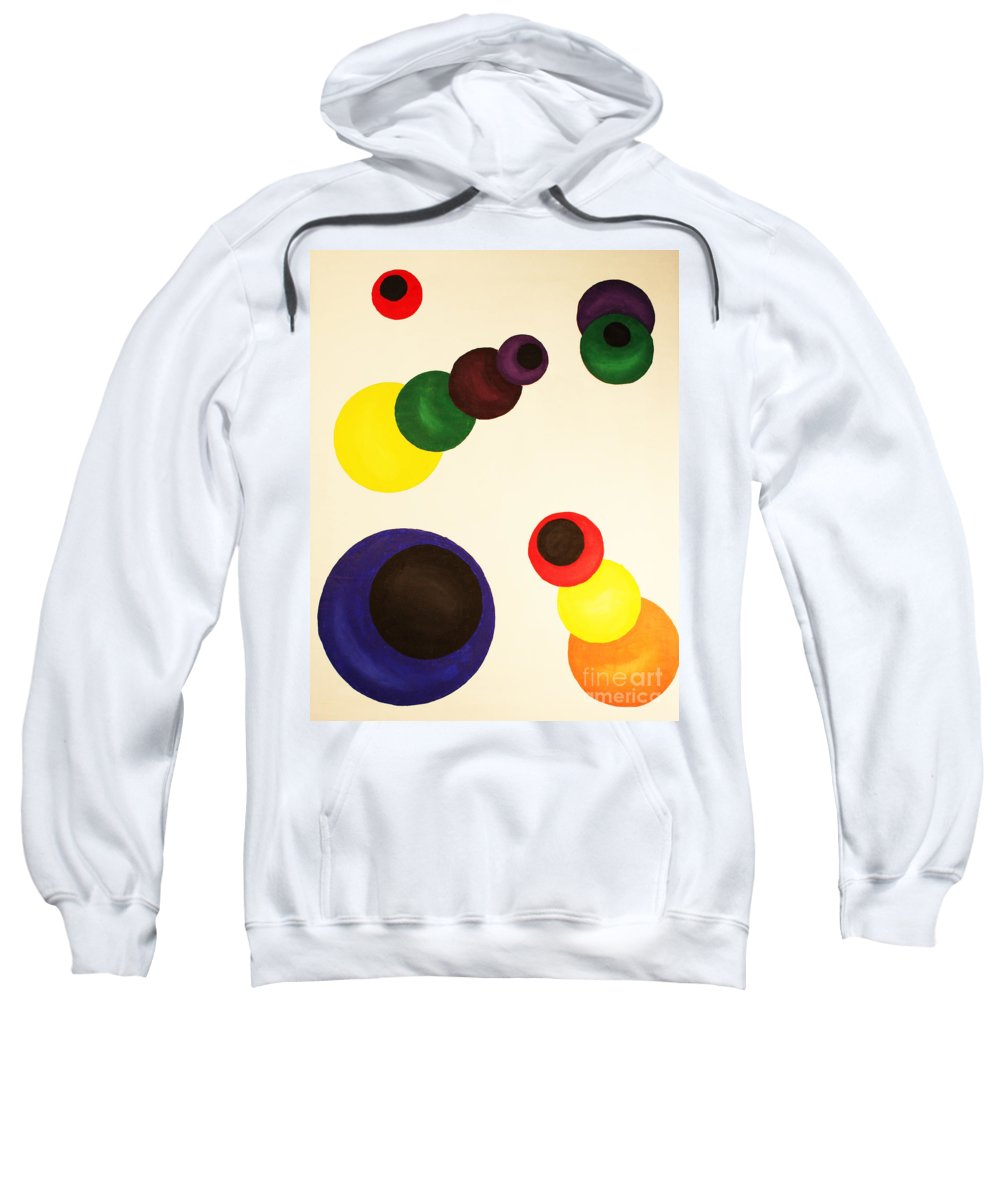Aligning Strategy Sweatshirt featuring the painting Aligning Strategy by Christine Dekkers