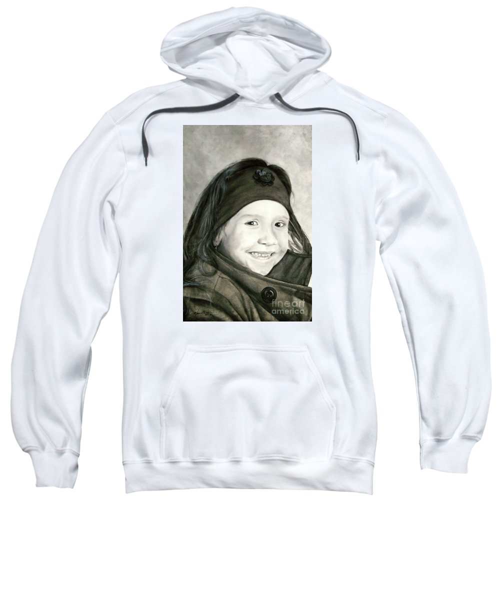Smile Sweatshirt featuring the painting Allegro by J C Moreira