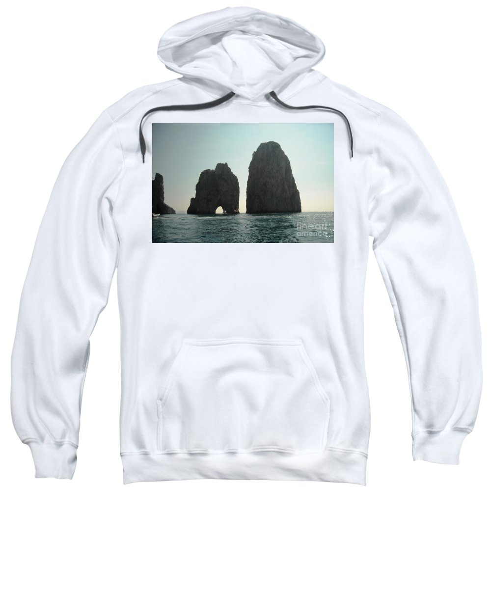 Amalfi Coast Sweatshirt featuring the photograph Amalfi Horizon by Lisa Kilby