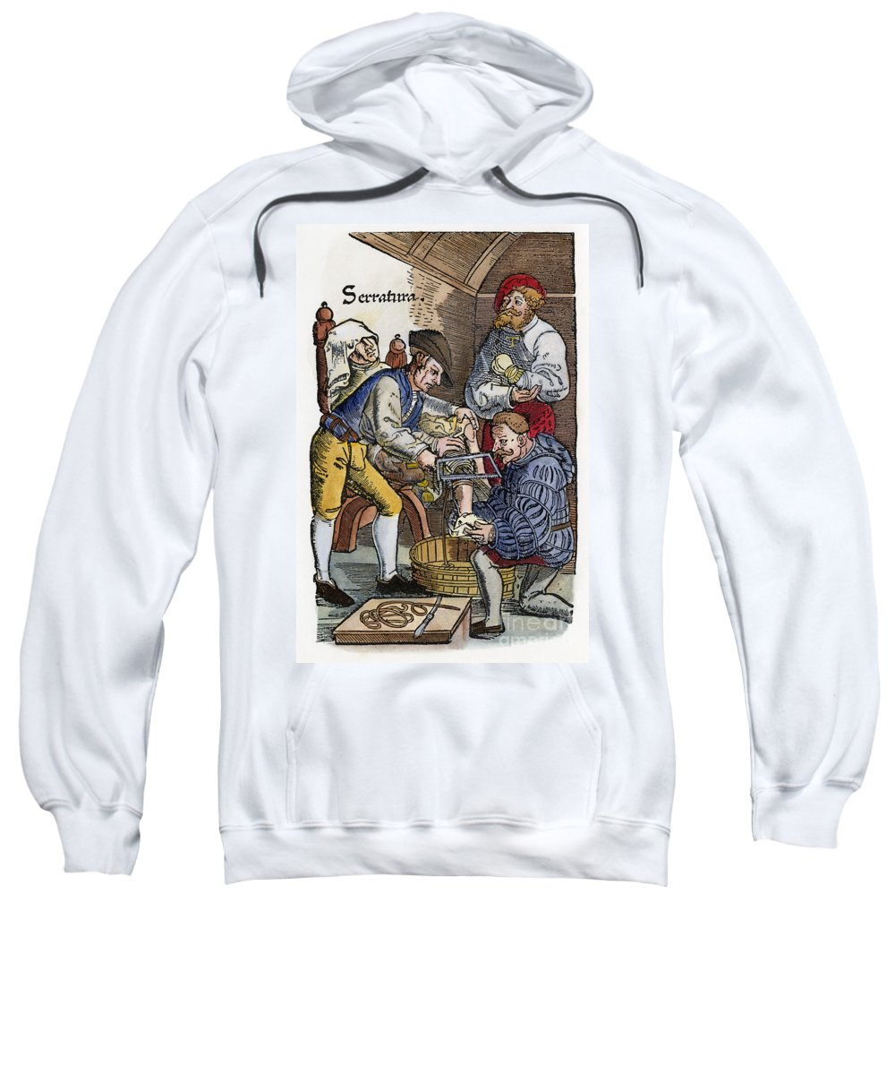 1540 Sweatshirt featuring the photograph Amputation, 1540 by Granger