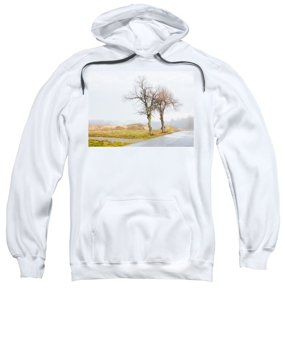 Solitude Sweatshirt featuring the photograph An Empty Path by Pati Photography