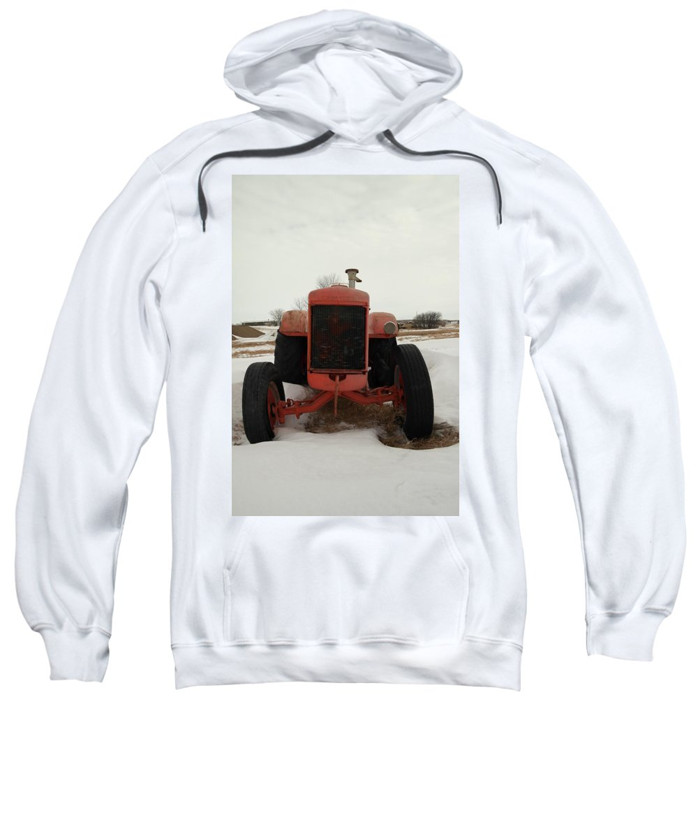 Old Sweatshirt featuring the photograph An Old Dase Tractor by Jeff Swan
