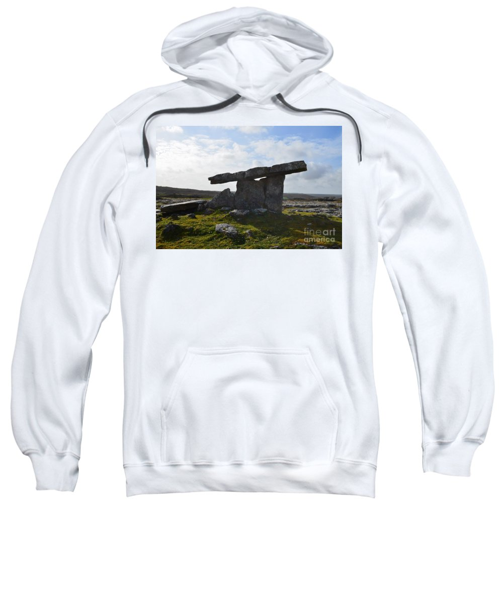 Poulnabrone Portal Tomb Sweatshirt featuring the photograph Ancient Tomb by DejaVu Designs