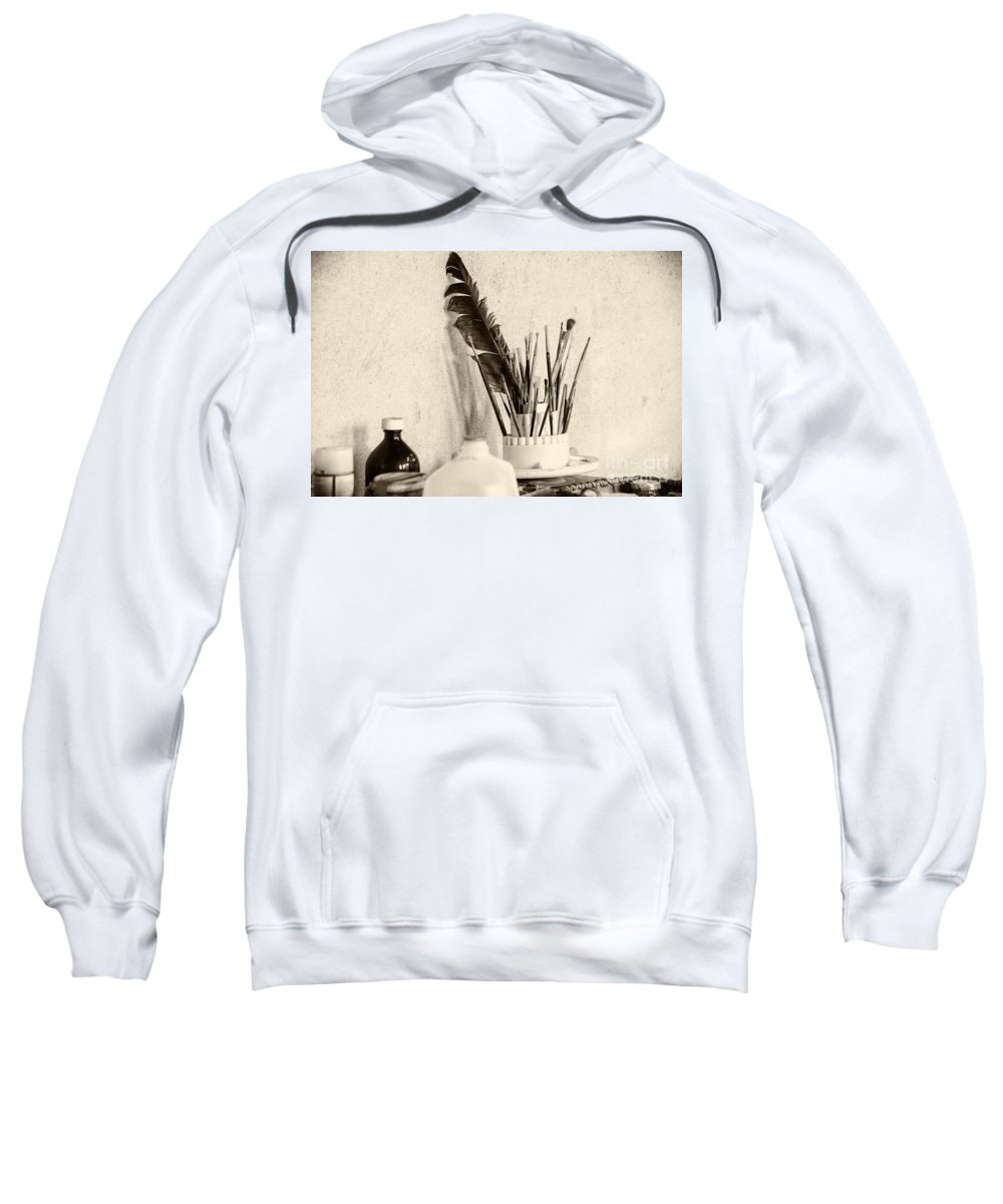 Brandywine Sweatshirt featuring the photograph Andrew's Feather by Jay Ressler