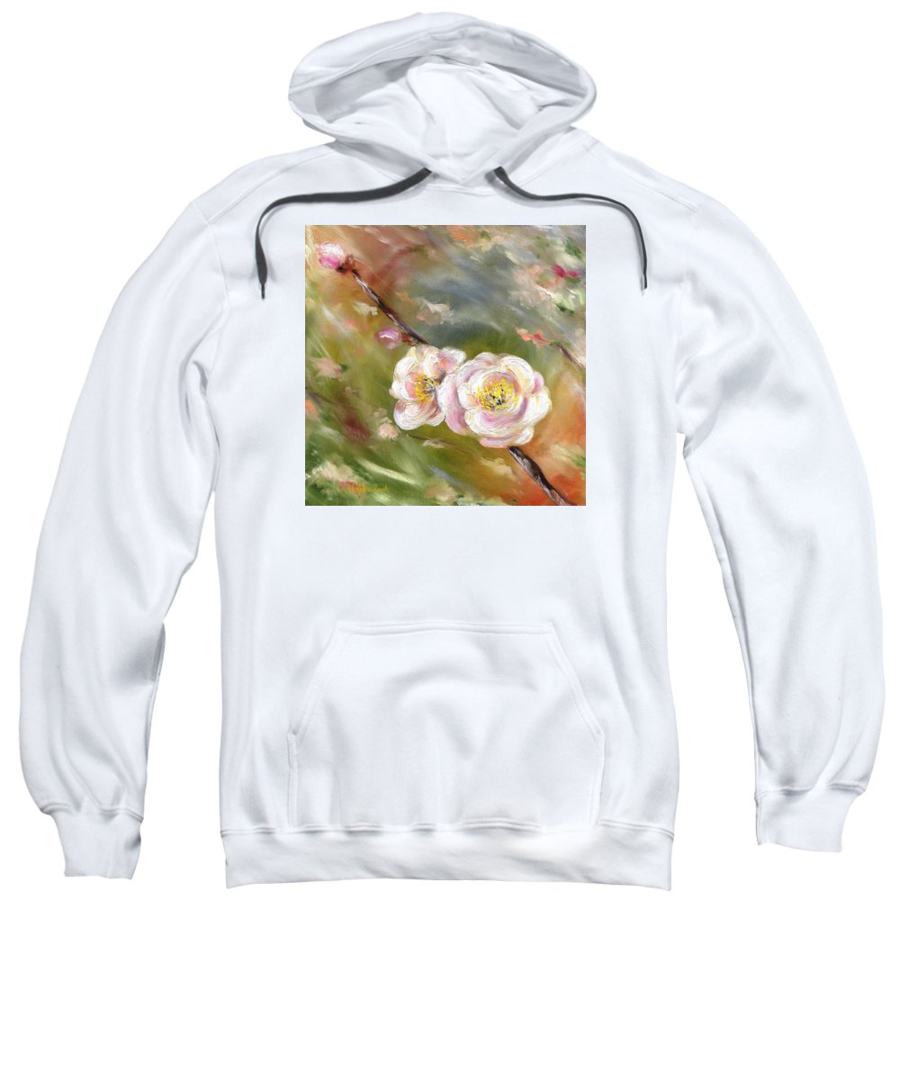 Flower Sweatshirt featuring the painting Anniversary by Hiroko Sakai
