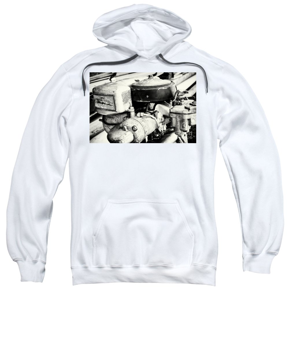 Engine Sweatshirt featuring the photograph Antique Horses by Joe Geraci