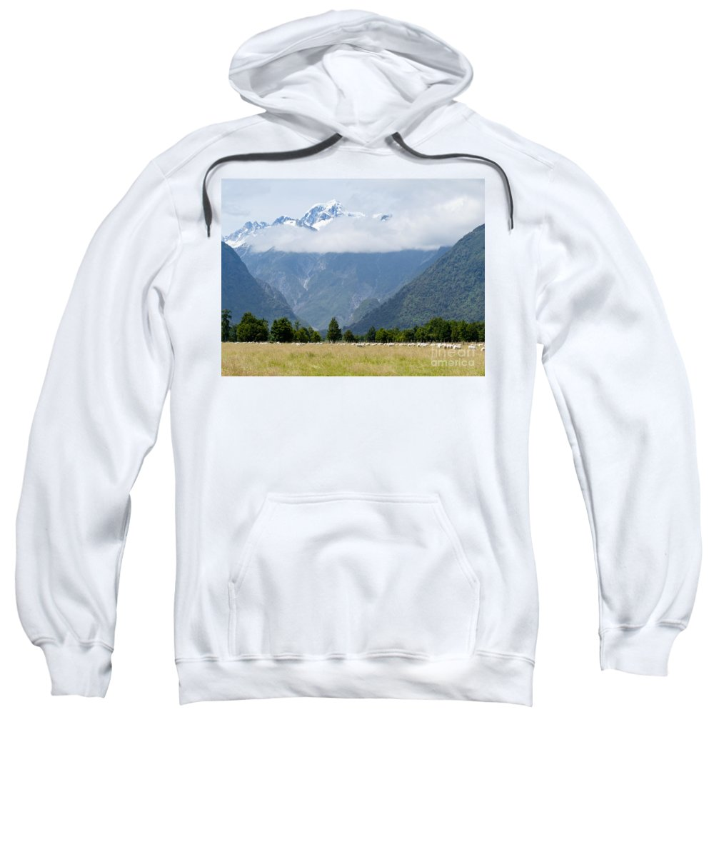 Mount Sweatshirt featuring the photograph Aoraki Mt Cook Highest Peak Of Southern Alps Nz by Stephan Pietzko