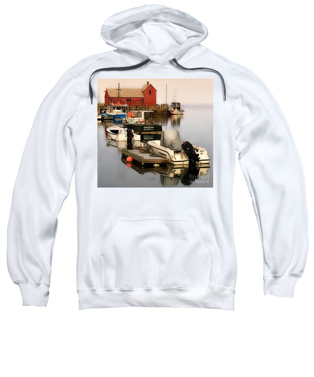 Fine Art Sweatshirt featuring the photograph Artistic Rockport by Jerry Fornarotto
