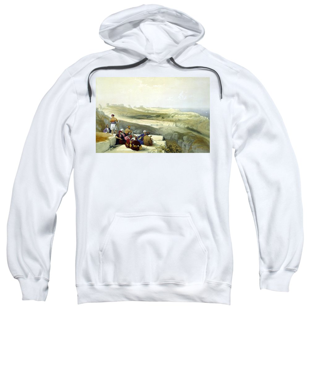 Askelon Sweatshirt featuring the photograph Askelon by Munir Alawi
