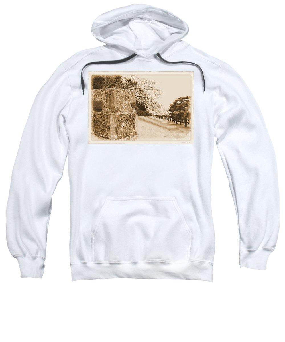 Cherry Sweatshirt featuring the photograph Atsugi Pillbox Walk D by Jay Mann