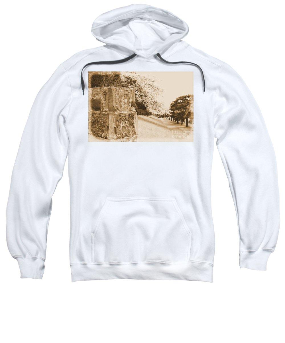 Cherry Sweatshirt featuring the photograph Atsugi Pillbox Walk D1 by Jay Mann