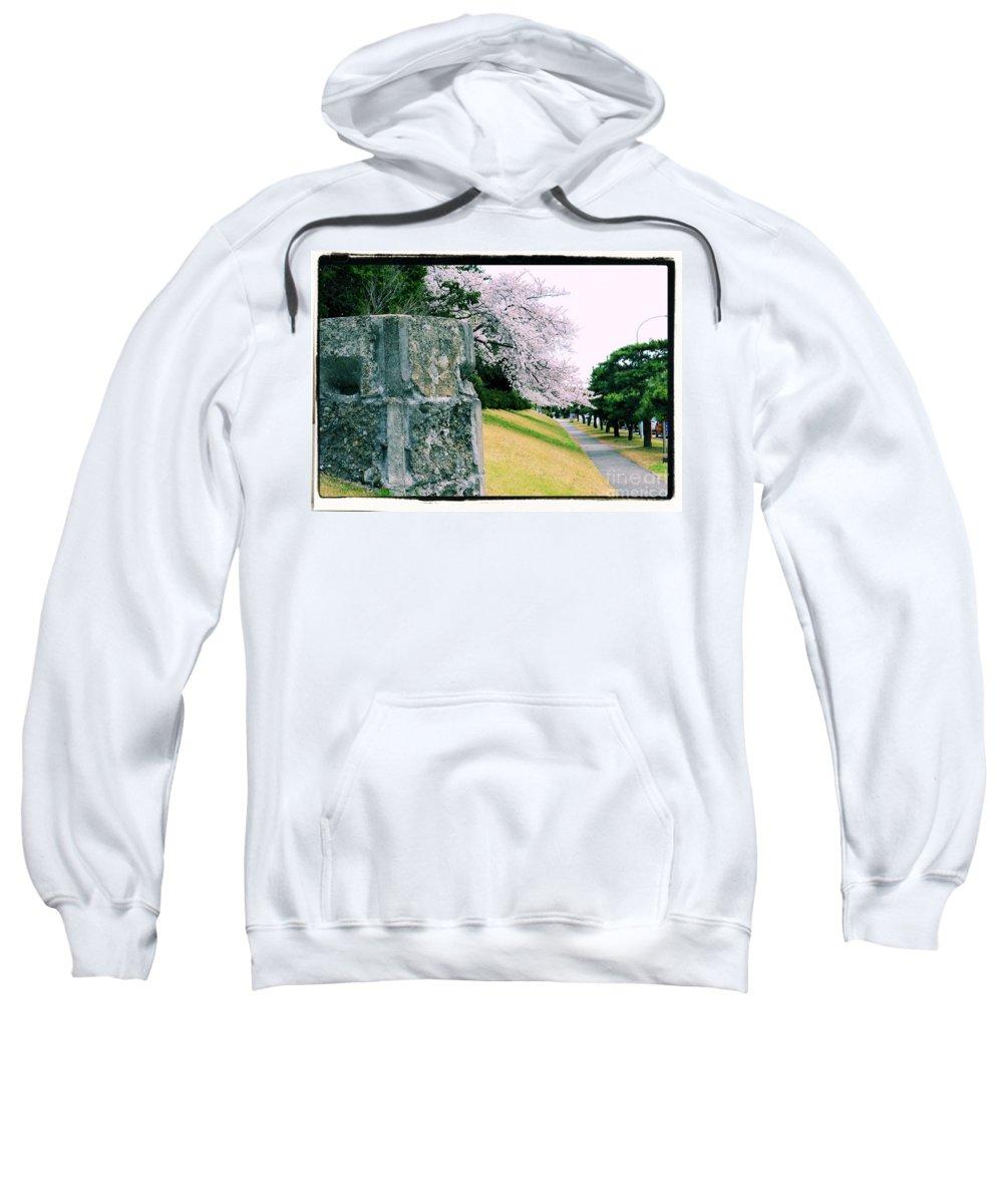 Cherry Sweatshirt featuring the photograph Atsugi Pillbox Walk I by Jay Mann