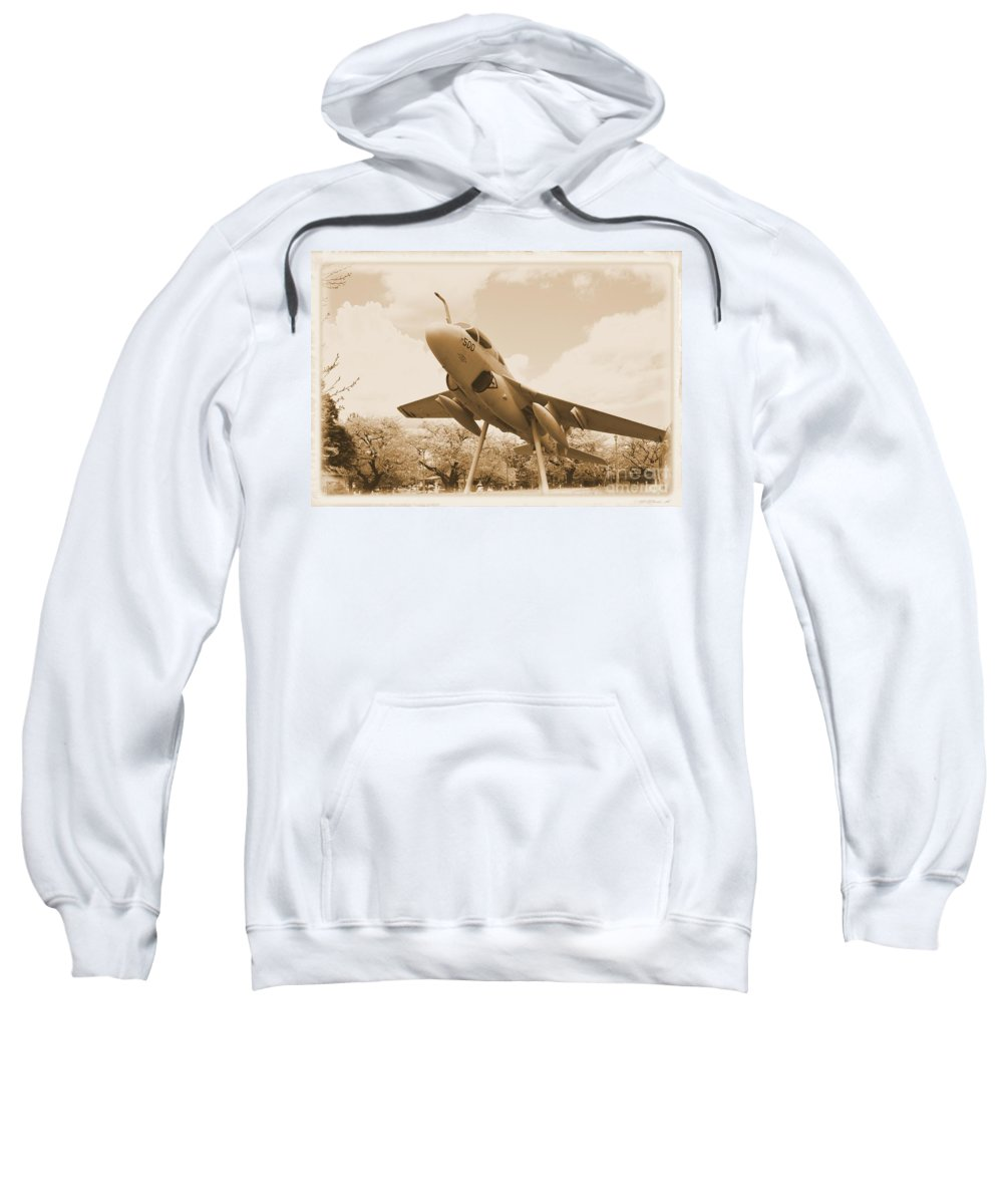 Atsugi Sweatshirt featuring the photograph Atsugi Prowler F by Jay Mann