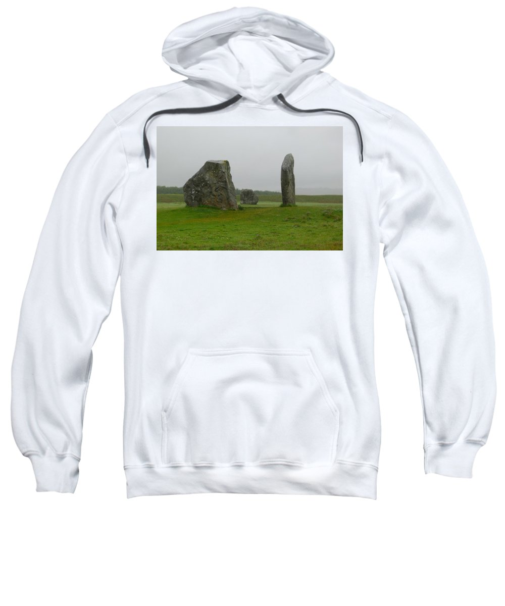 Avebury Sweatshirt featuring the photograph Avebury's Cove Stones by Denise Mazzocco