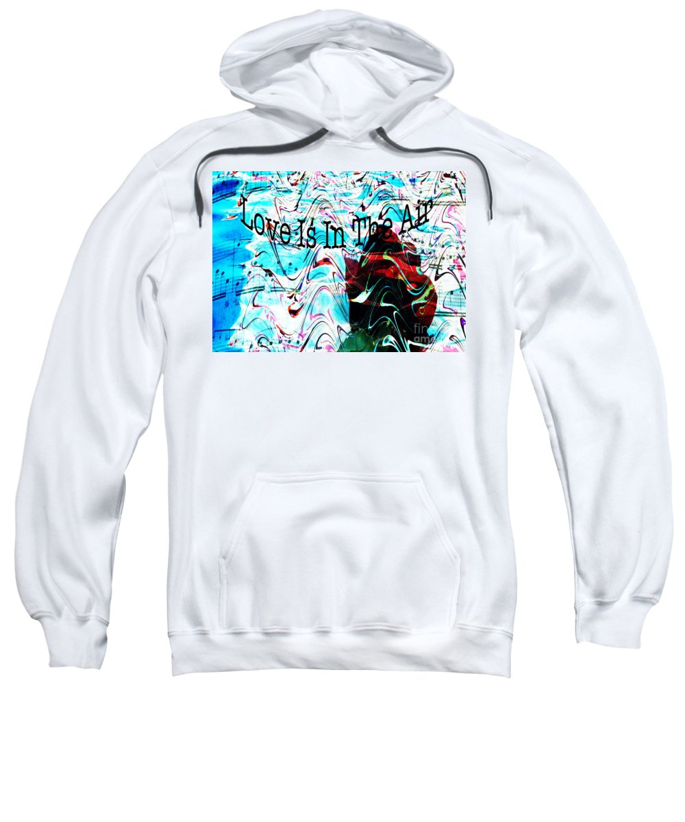 Digital Art Flower Sweatshirt featuring the digital art Awareness II by Yael VanGruber