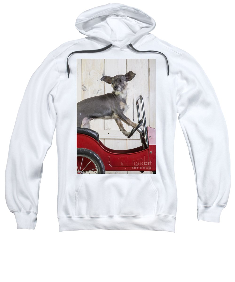 Car Sweatshirt featuring the photograph Baby You Can Drive My Car by Edward Fielding