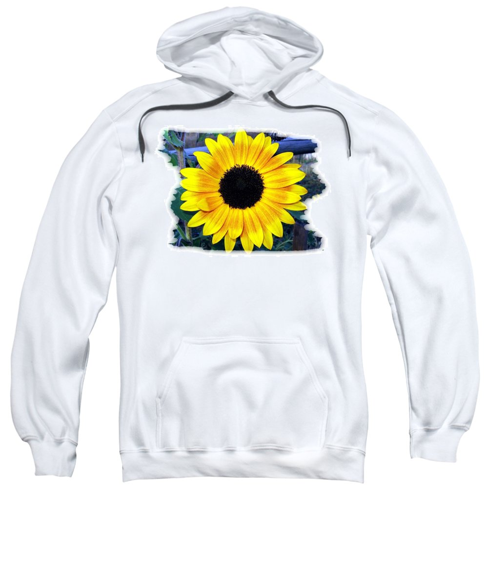 Back Forty Sunflower Sweatshirt featuring the photograph Back Forty Sunflower by Will Borden