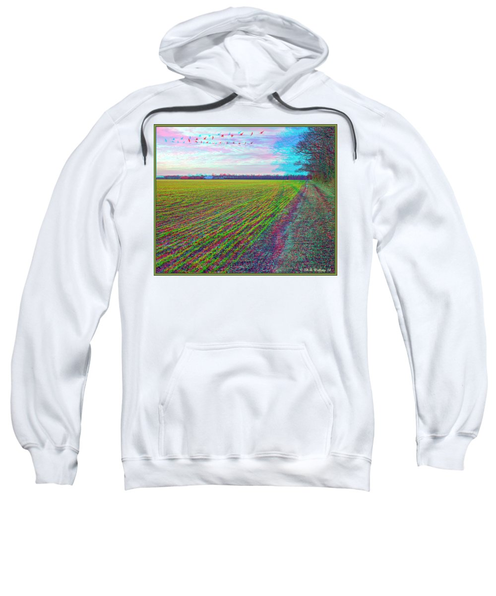 3d Sweatshirt featuring the photograph Back Forty - Use Red/cyan Filtered 3d Glasses by Brian Wallace
