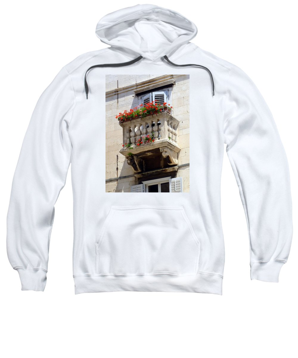 Balcony Sweatshirt featuring the photograph Balcony In Split Croatia by Carla Parris