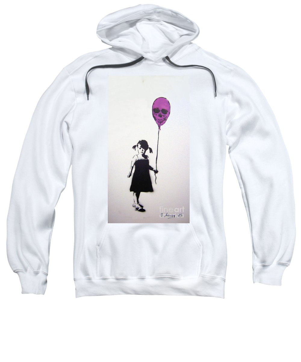 Balloon Sweatshirt featuring the painting Balloon Girl by Bela Manson