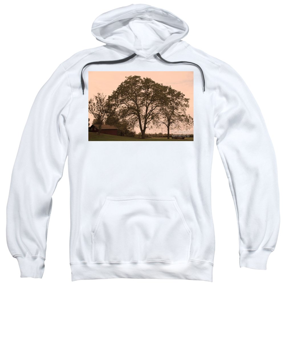 Barn Sweatshirt featuring the photograph Barn At Twlight by Kathleen Struckle