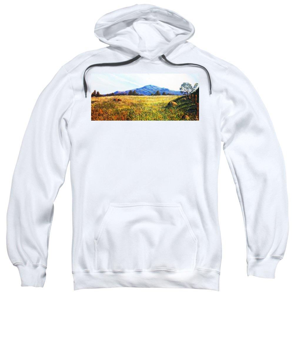 Landscape Sweatshirt featuring the painting Baru Descansa by Ricardo Sanchez Beitia