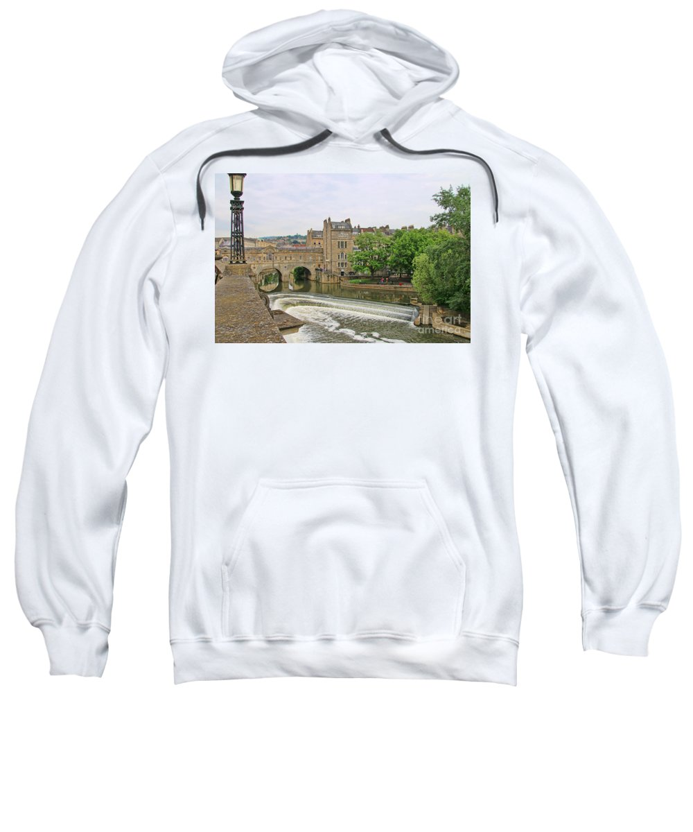 Bath England Sweatshirt featuring the photograph Bath On River Avon 8482 by Jack Schultz