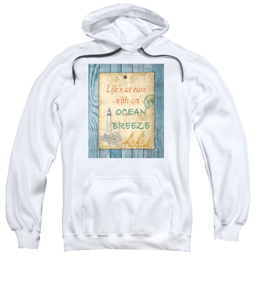 Digital Art Sweatshirt featuring the digital art Beach Notes-c by Jean Plout